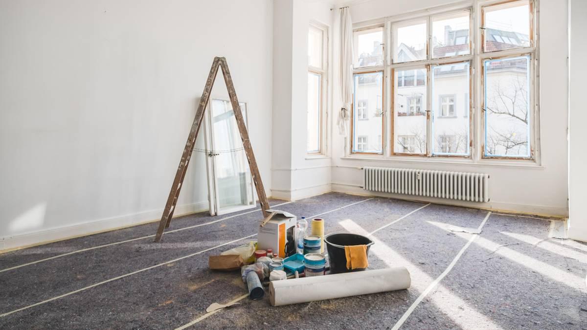 Was Mieter in der Wohnung renovieren, streichen und lackieren müssen ...