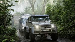Mercedes-Benz G 63 AMG 6x6 und Sprinter am Set von Jurassic World.