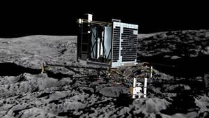 Vermisste Sonde Philae erwacht auf dem Kometen Tschuri
