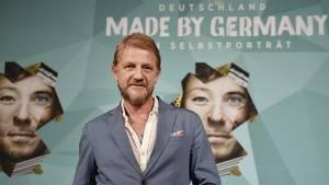 """Das Gesicht von """"Mady by Germany"""": Sönke Wortmann bei der Projektvorstellung in Berlin"""