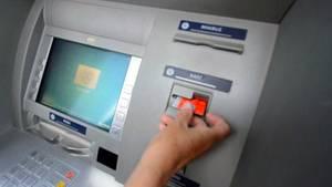 ausländischer Bankautomat