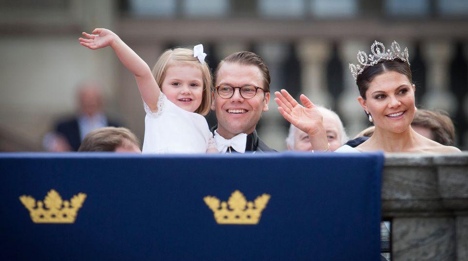 Prinzessin Estelle mit Eltern