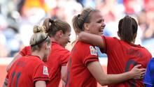 Vier Tore konnten die DFB-Frauen gegen Thailand bejubeln