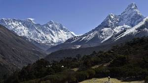 Das Mount-Everest Massiv in Nepal