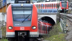 Eine S-Bahn in München