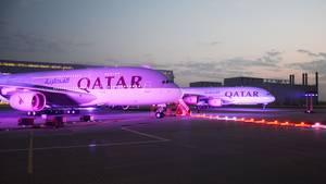 Airbus A380 von Qatar