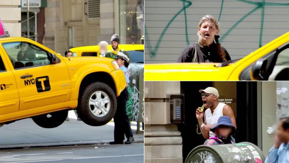 PR-Aktion in New York: Wenn die Hilfspolizistin Superkräfte entwickelt