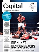Capital, das Cover des aktuellen Magazins