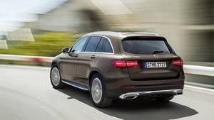 Mercedes GLC - das Heck erinnert an das C-Klasse T-Modell