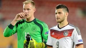 Marc-André ter Stegen (23) und Kevin Volland (22) sind zwei Leistungsträger bei der deutschen U-21-Nationalmannschaft.