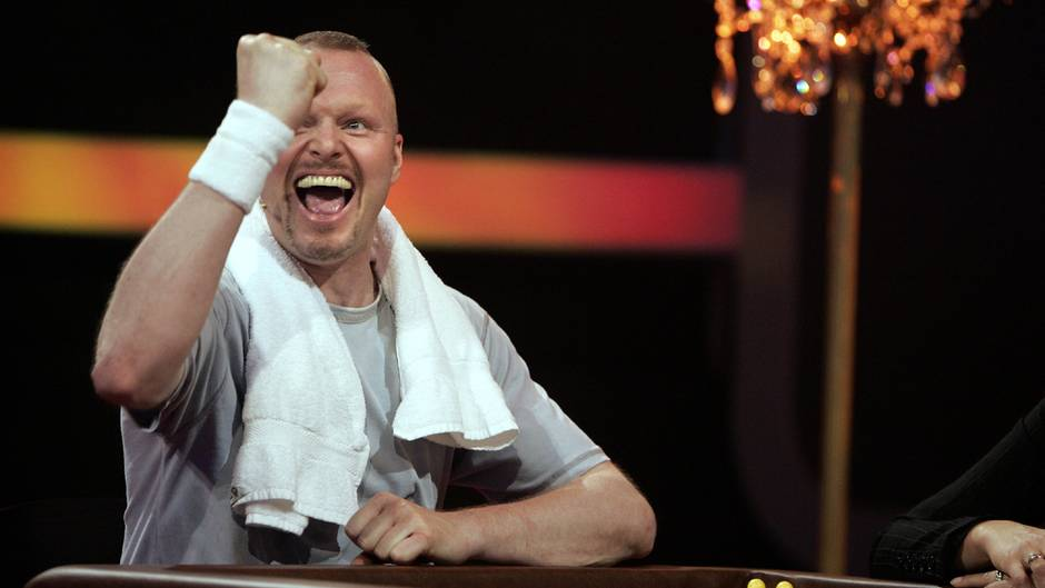 Stefan Raab in Siegerpose