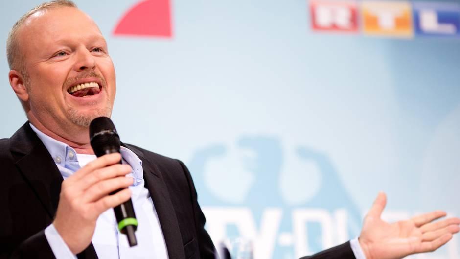 Stefan Raab beim TV-Duell 2013: Überraschenderweise war er es, der die besten Fragen stellte.