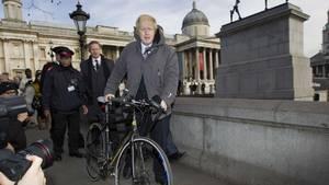 Londons Bürgermeister Boris Johnson hat von seinem Fahrrad aus einen Taxifahrer beschimpft (Symbolbild)