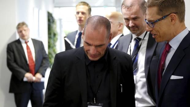 Varoufakis bei Eurogruppentreffen
