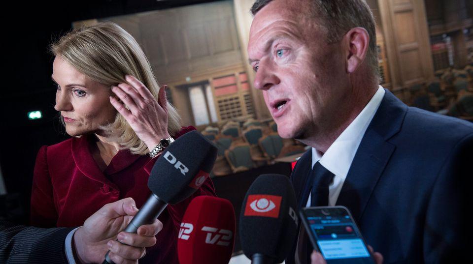 Parlamentswahlen Dänemark: Ministerpräsidentin Helle Thorning-Schmidt (l.) und Lars Løkke Rasmussen
