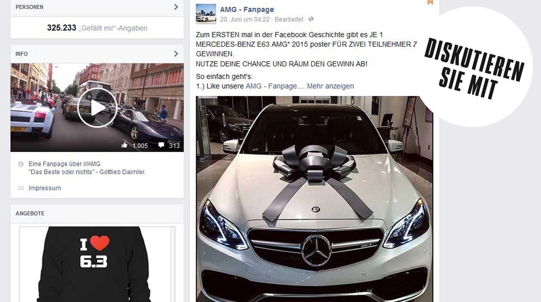 300.000 fielen darauf herein: Fake-Gewinnspiel bei Facebook: Poster statt Limousine