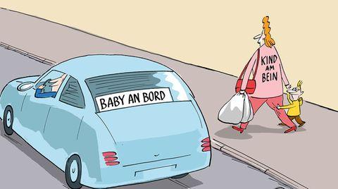 Familien-Cartoons: Schandtal! Komm zu Hause!