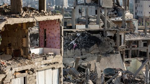 Weite Teile Gazas liegen nach dem Krieg 2014 immer noch in Trümmern - viele Menschen haben ihr Zuhause verloren