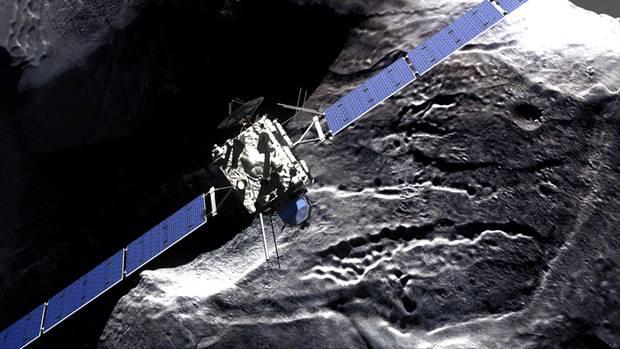 """Die Raumsonde """"Rosetta"""" umkreist den Kometen """"Tschuri"""""""