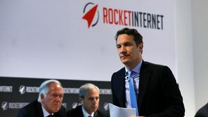 Oliver Samwer während der ersten Hauptversammlung von Rocket Internet