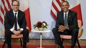 Francois Hollande und Barack Obama beim G7-Gipfel in Elmau