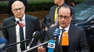 Für Frankreichs Präsident Francois Hollande war Treffen mit Merkel nur Show