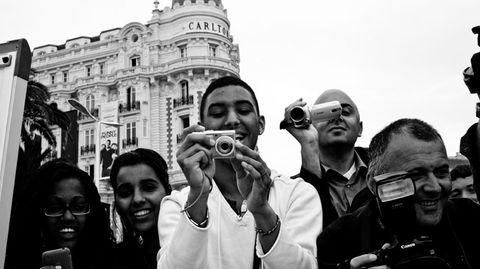 Der Anti-Paparazzo: Und sie freuen sich offensichtlich über den Gegenblick.