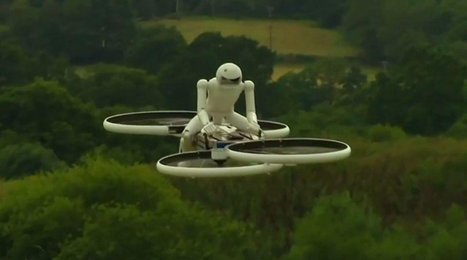 Das fliegende Fahrrad gibt es bisher nur als Prototyp.