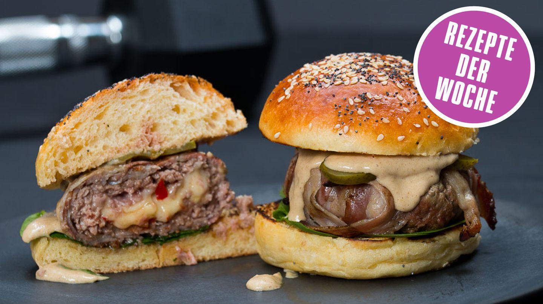 Foodbloggerrezept der Woche: Burger mit Bacon und Käse und Fenchel Mayo