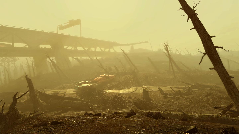 Die verödete Landschaft von Fallout 4