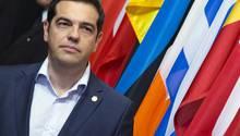 """Vor dem entscheidenden Treffen zur Rettung Griechenlands vor der Pleite bleiben Athen und seine Gläubiger auf Kollisionskurs.Tsipras warnte vor """"Erpressungen und Ultimaten""""."""