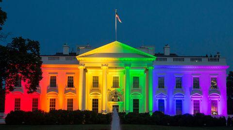 Das Weiße Haus erstrahlt in den Farben des Regenbogens
