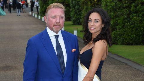 Boris Becker und seine Ehefrau auf der Raplph Lauren und Vogue Wimbledon-Party in London.