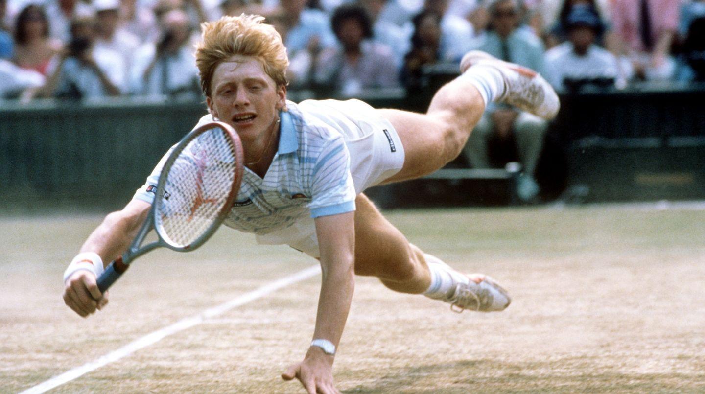 Boris Becker in Wimbledon vor 30 Jahren