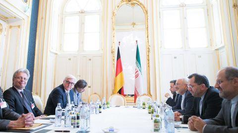 Frank-Walter Steinmeier bei den Atomverhandlungen in Wien