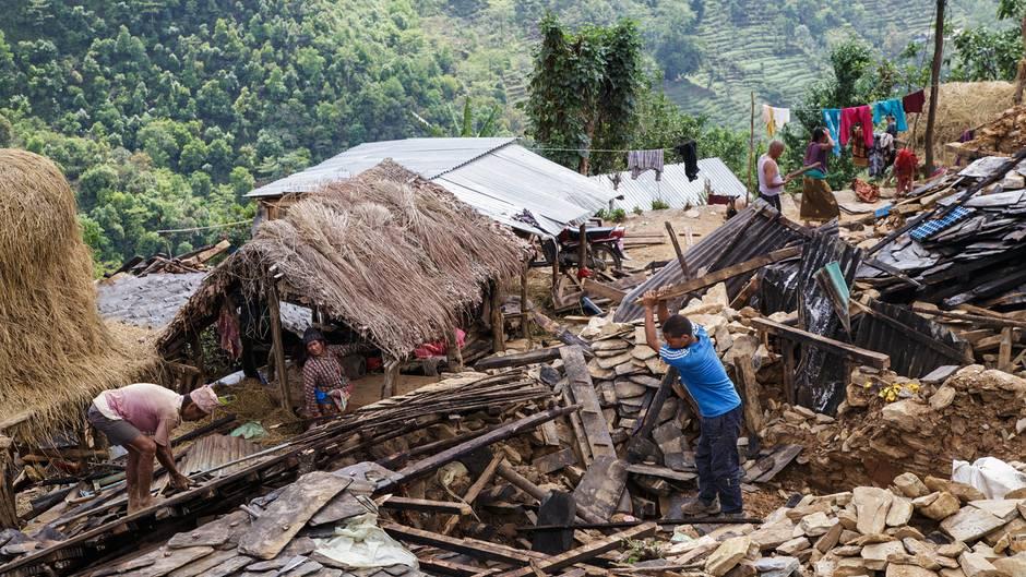 In den Siedlungen der Region Gorkha fielen vielerorts fast alle Häuser zusammen.