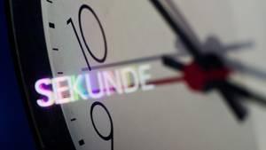 Ein Ziffernblatt einer Uhr