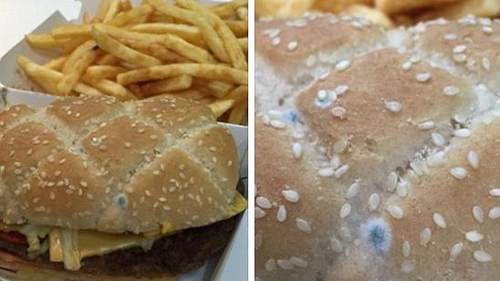 Einfach nur eklig: Diesen Schimmelburger fand ein Kunde bei McDonalds in England