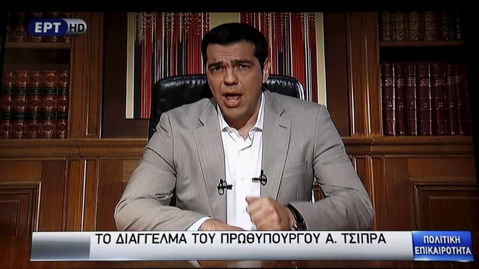 Alexis Tsipras rechtfertigte seine Verhandlungstaktik im griechischen Fernsehen