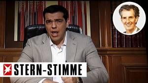 Der griechische Ministerpräsident spricht im TV zum griechischen Volk