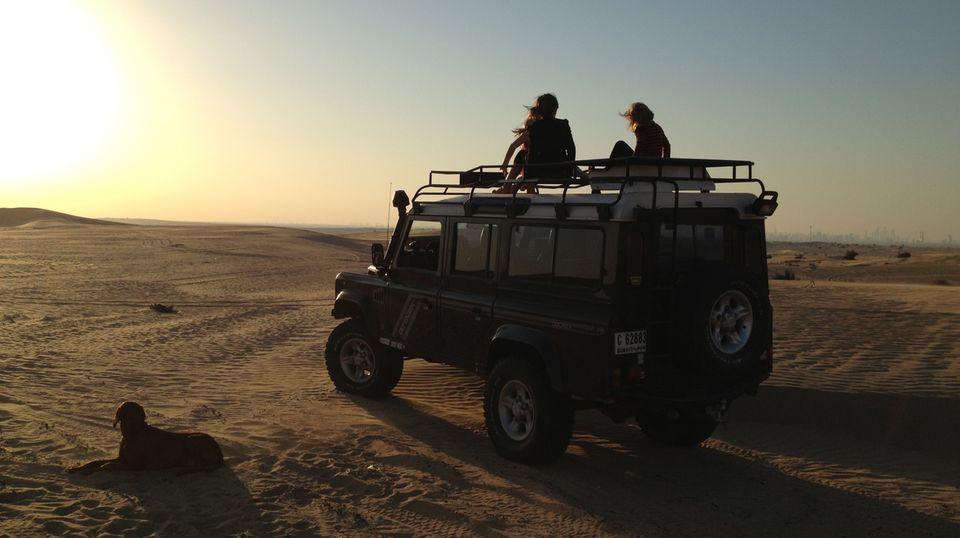 Familienausflug in die Wüste