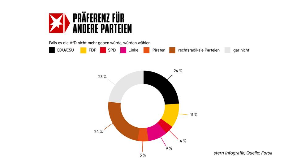 Weitere Ergebnisse der Forsa-Umfrage zur AfD