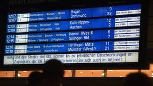 Bahnstreiks in Deutschland