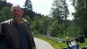 Klaus Haberstroh mit seinem Motorrad