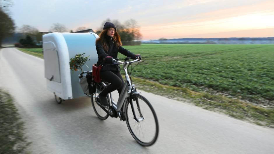 der fahrrad wohnwagen das kleine haus am rad. Black Bedroom Furniture Sets. Home Design Ideas