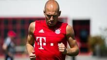 Superstar Arjen Robben stieg mit dem Team ganz normal ins Training ein