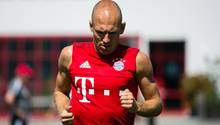 Superstar Arjen Robben stieg mit dem Team ganz normal ins Training ein