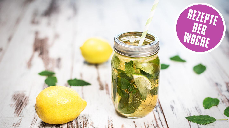 Foodbloggerrezepte: Eistee mit Salbei, Minze und Zitrone