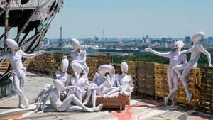 Tänzer auf dem Berliner Teufelsberg