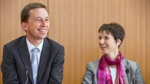 """Die Sprecher der Partei """"Alternative für Deutschland"""" (AfD), Bernd Lucke und Frauke Petry"""